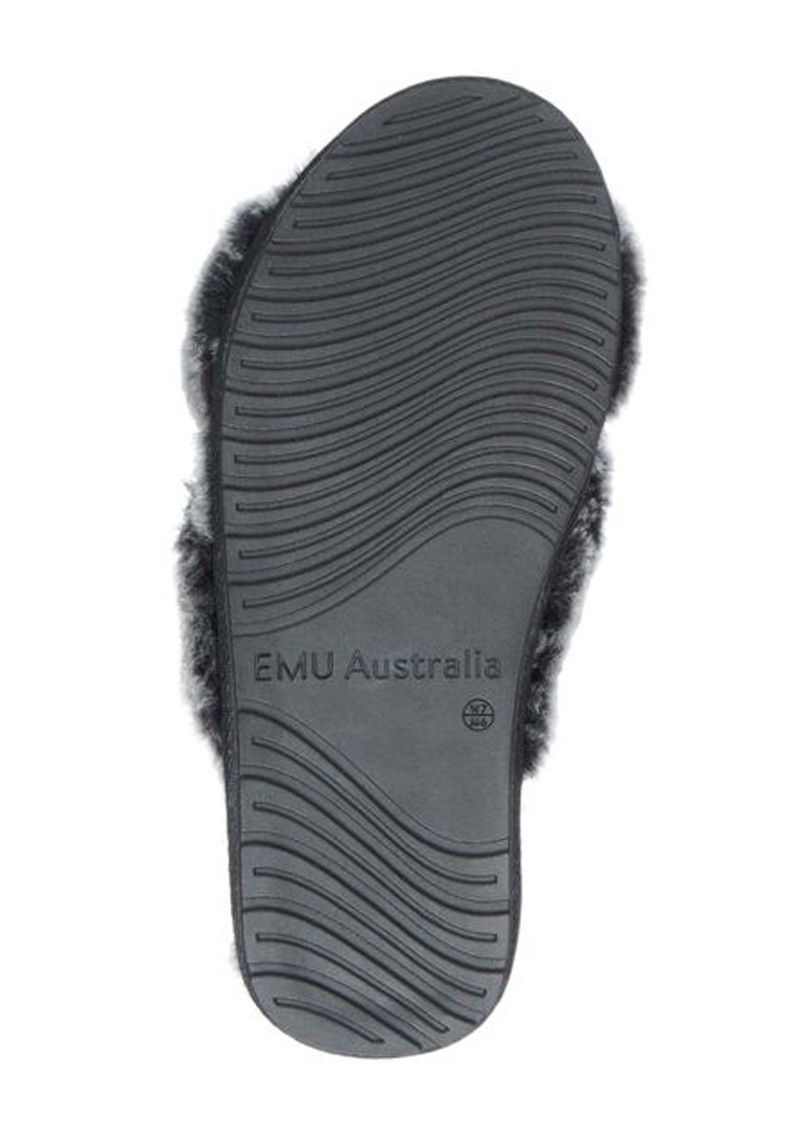 EMU Mayberry Frost Crossover Sheepskin Slipper Slide - Black main image
