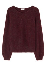 American Vintage East Oversized Jumper - Burgundy