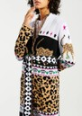 HAYLEY MENZIES Leopardess Duster Cardigan - Black & White