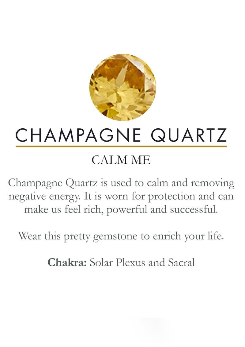 SVP Atomic Midi Adjustable Ring - Gold & Champagne Quartz main image
