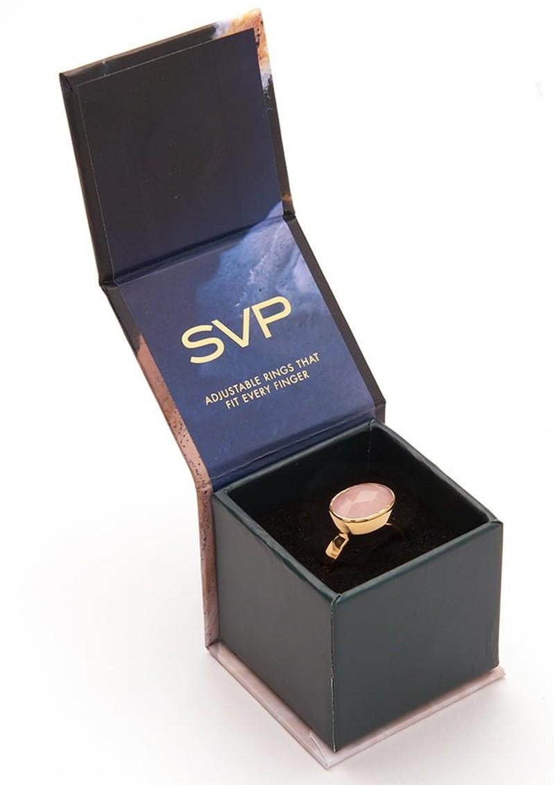 SVP Atomic Midi Adjustable Ring -Rainbow Moonstone & Silver main image