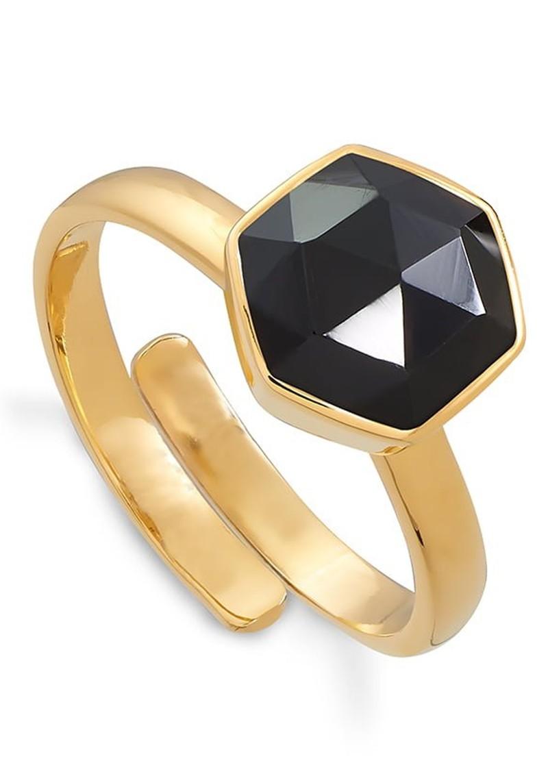 SVP Firestarter Adjustable Ring - Black Spinel & Gold  main image