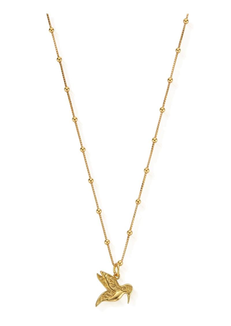 ChloBo Bobble Chain Hummingbird Necklace - Gold main image