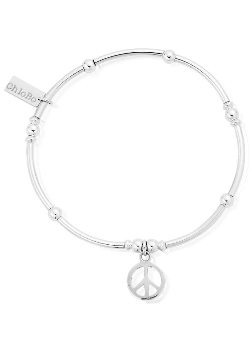ChloBo Mini Noodle Ball Peace Charm Bracelet - Silver main image