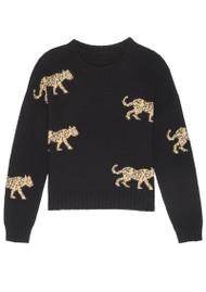 Rails Perci Knitted Sweater - Black Jungle Cat