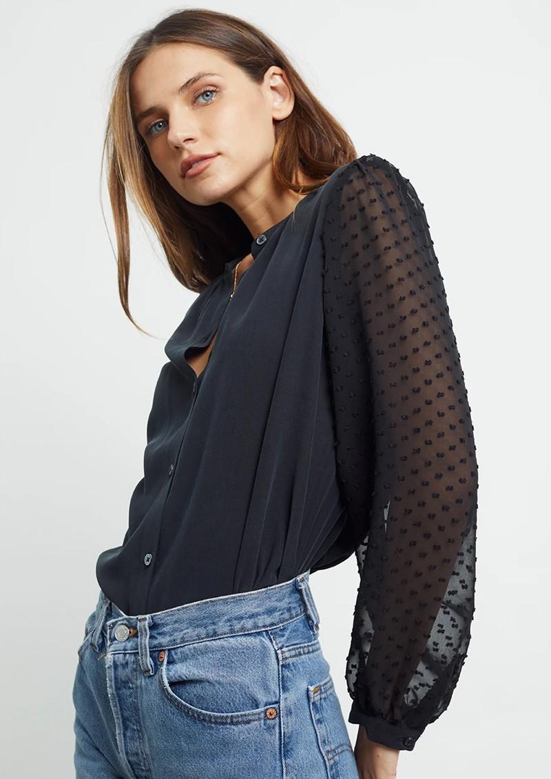 Rails Camilla Silk Blouse - Black main image