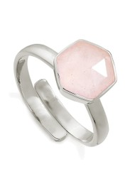 SVP Firestarter Adjustable Ring - Rose Quartz & Silver