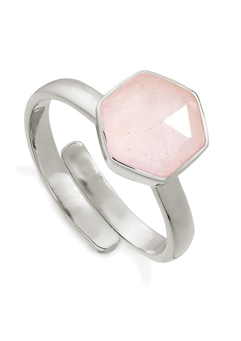 SVP Firestarter Adjustable Ring - Rose Quartz & Silver main image