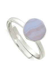 SVP Starman Adjustable Ring - Blue Lace Agate & Silver