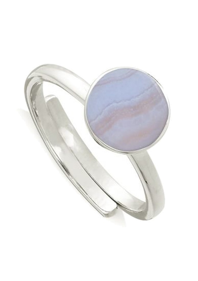SVP Starman Adjustable Ring - Blue Lace Agate & Silver main image