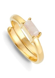 SVP Nivarna Small Adjustable Ring - Gold & Morganite