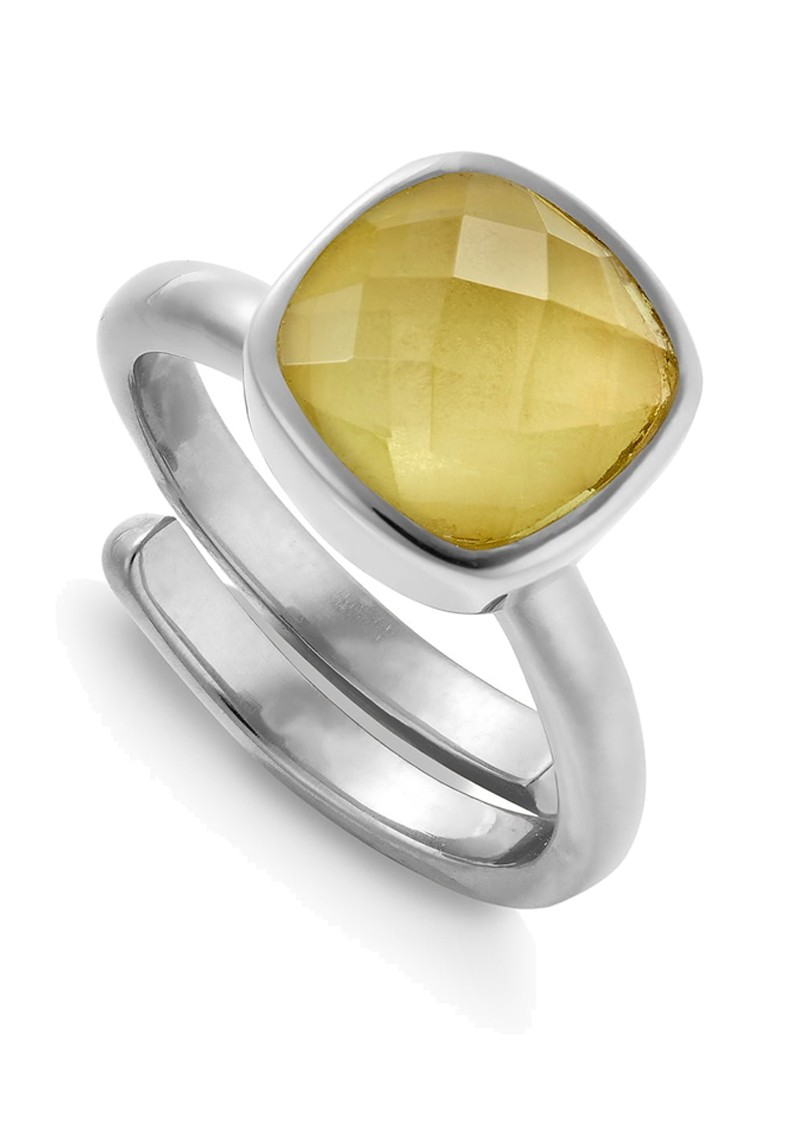 SVP Highway Star Adjustable Ring - Lemon Quartz & Silver main image