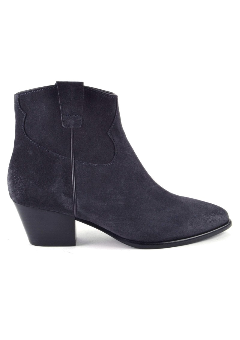 Ash Houston Brushed Suede Boots - Midnight main image