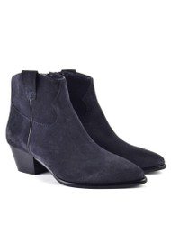 Ash Houston Brushed Suede Boots - Midnight