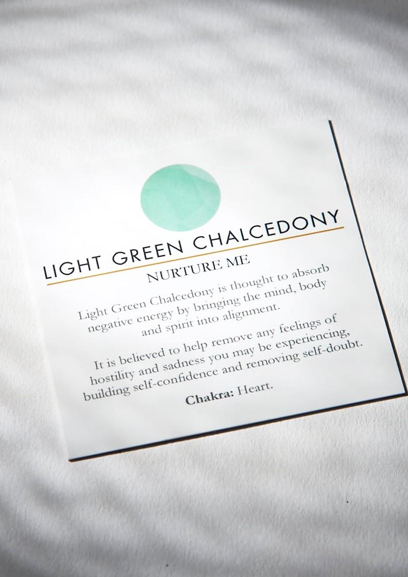 SVP Firestarter Adjustable Ring - Light Green Chalcedony  & Silver main image