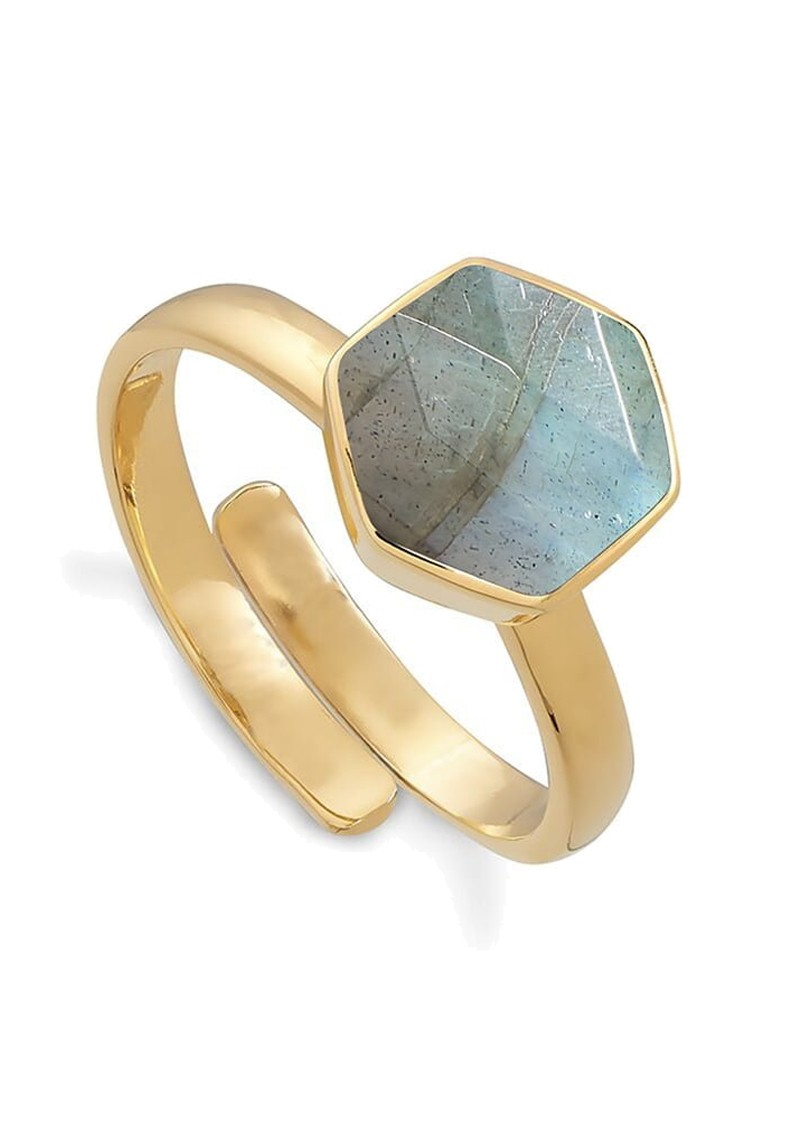Firestarter Adjustable Ring - Labradorite & Gold main image