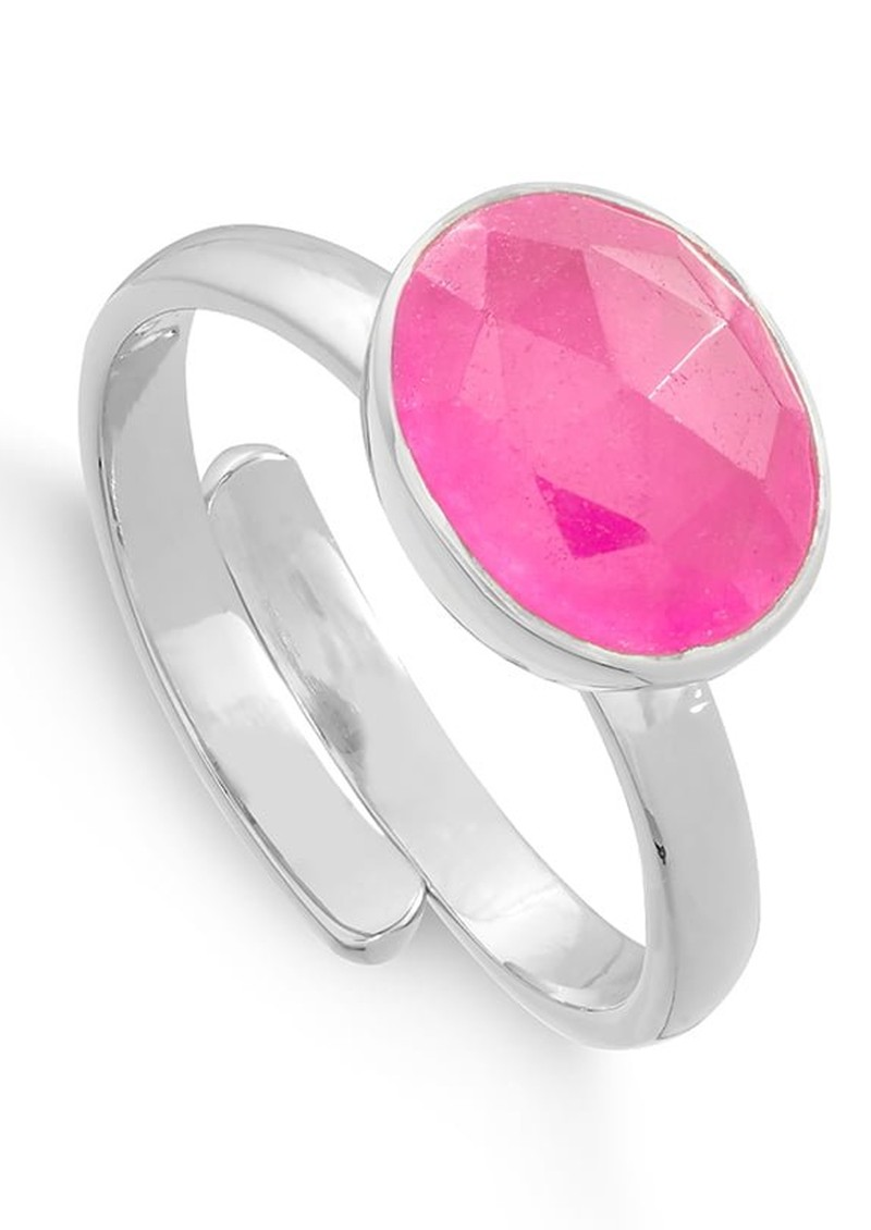 SVP Atomic Midi Adjustable Ring - Ruby Quartz & Silver main image