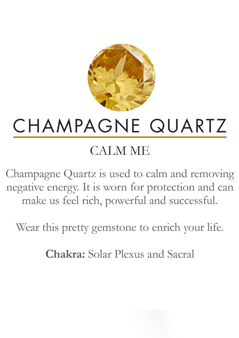SVP Atomic Midi Adjustable Ring - Champagne Quartz & Silver main image