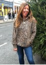 Oversized Hoodie - Brown Leopard additional image