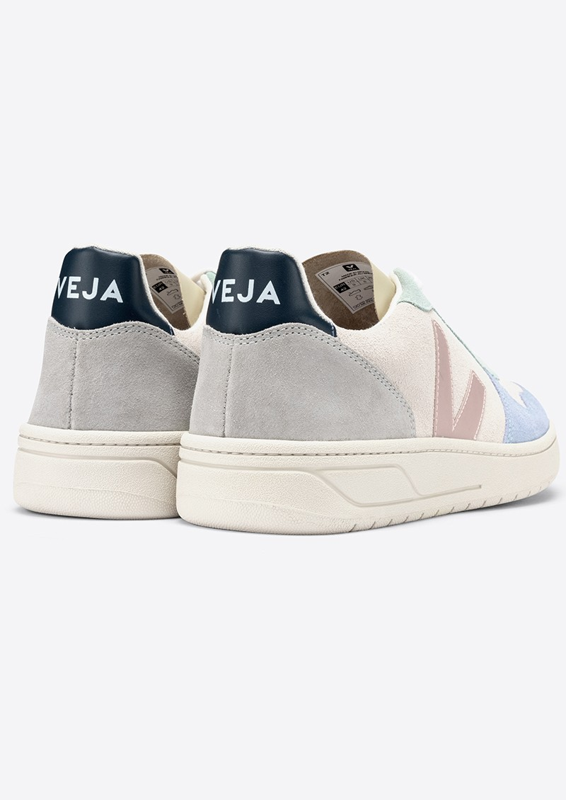 VEJA V-10 Suede Trainers - Multico, Natural & Babe main image