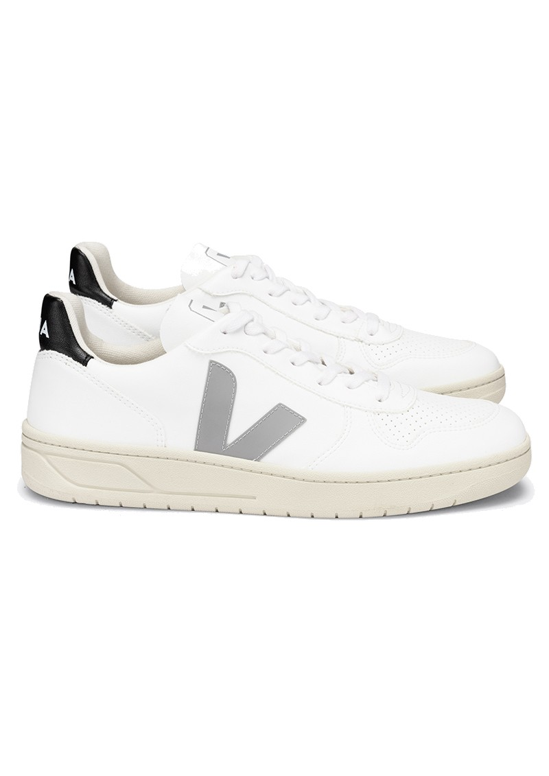 VEJA V-10 CWL Trainers - White, Oxford Grey & Black main image