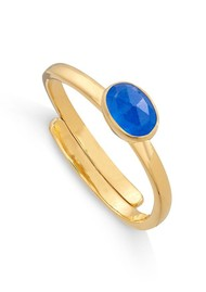 SVP Atomic Micro Adjustable Ring - Gold & Blue Quartz
