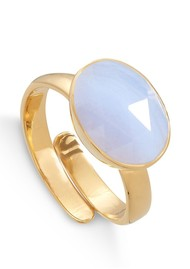 SVP Atomic Maxi Adjustable Ring - Gold & Blue Lace Agate
