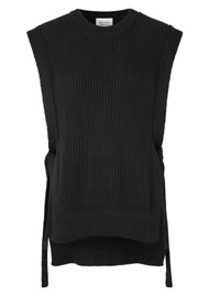SECOND FEMALE Aventurine Merino Wool Mix Knitted Vest - Black