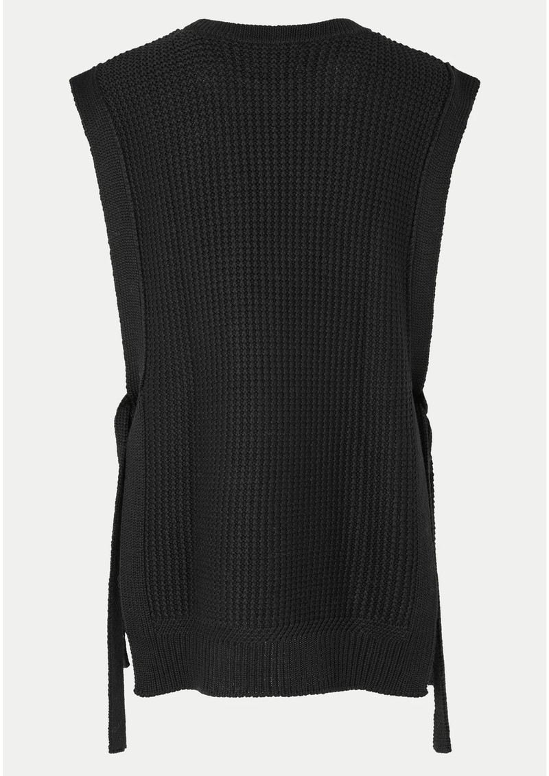 SECOND FEMALE Aventurine Merino Wool Mix Knitted Vest - Black main image