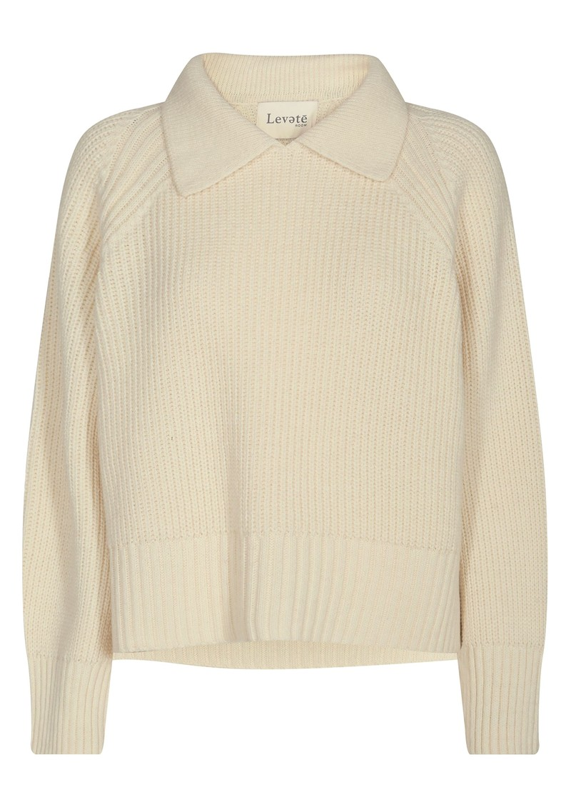 LEVETE ROOM Kalima 3 Wool Mix Jumper - Cream main image