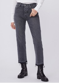 Paige Denim Sarah High Rise Straight Ankle Jeans - Deep End