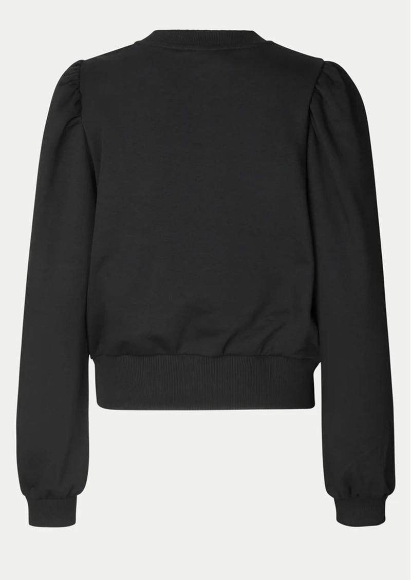 SECOND FEMALE Carmella Cotton Sweatshirt - Black main image