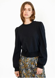 SECOND FEMALE Carmella Cotton Sweatshirt - Black