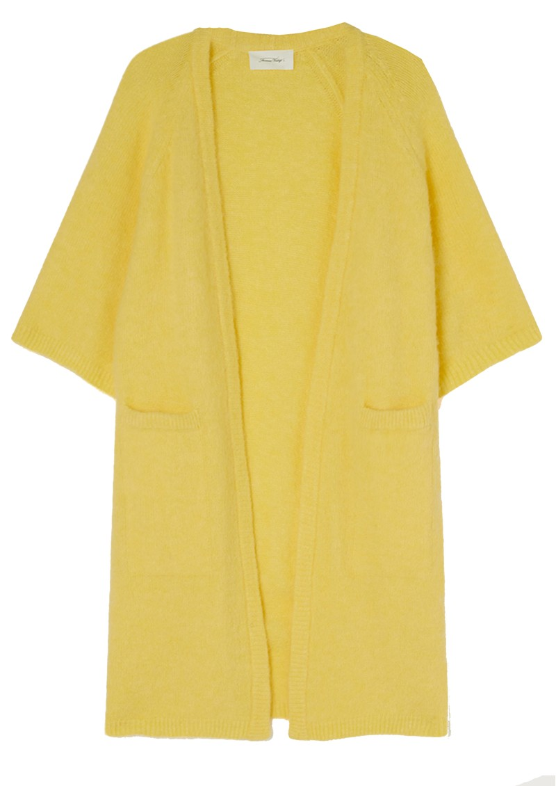 American Vintage East Long Short Sleeve Cardigan - Bergamot Melange main image