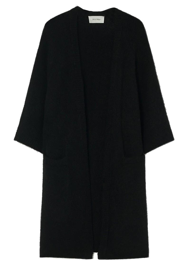 American Vintage East Long Short Sleeve Cardigan - Black main image