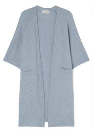American Vintage East Long Short Sleeve Cardigan - Blue Sky Melange