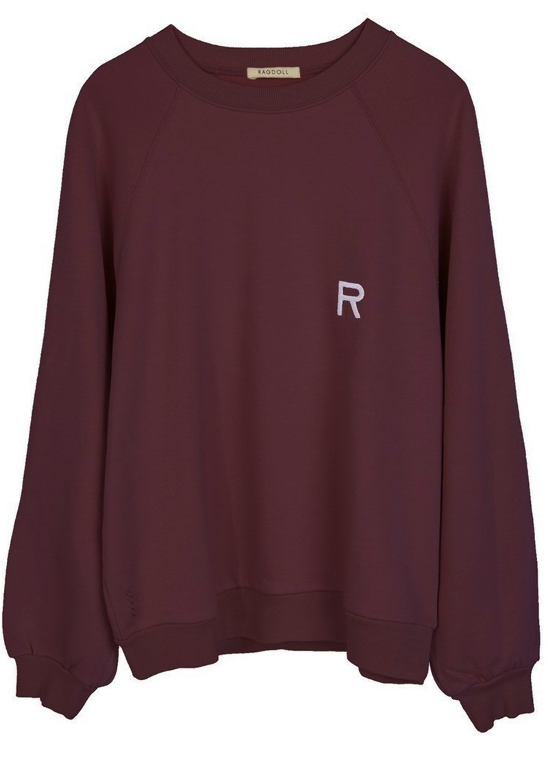 RAGDOLL Oversized Sweatshirt - Plum main image