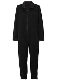 J Brand Arkin Cotton Mix Long Sleeve Jumpsuit - Black