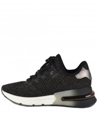 Ash Krush Bis Knitted Trainer - Black & Silver