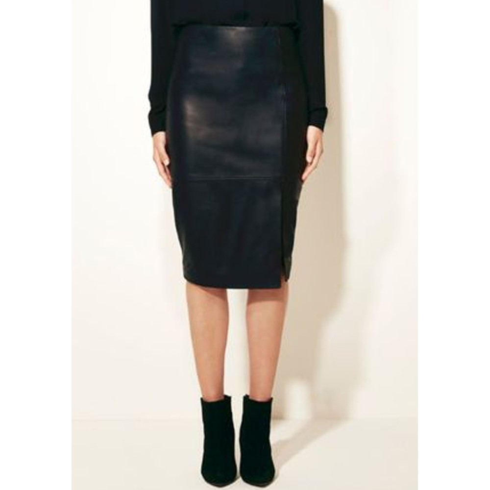 Benedict Leather pencil Skirt - Raven