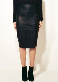 DANTE 6 Benedict Leather pencil Skirt - Raven