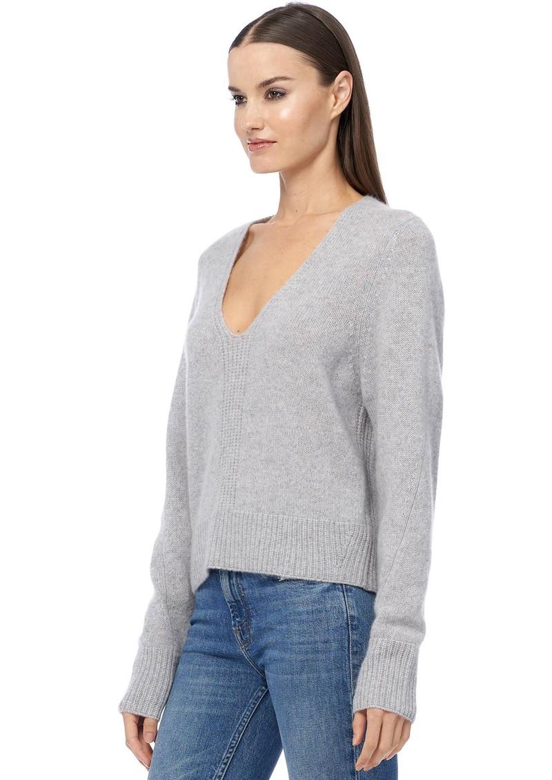 360 SWEATER Wendi Cashmere Sweater - Light Heather Grey main image