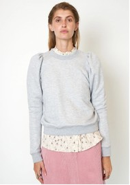 SECOND FEMALE Dawni Cotton Mix Sweater - Grey Melange