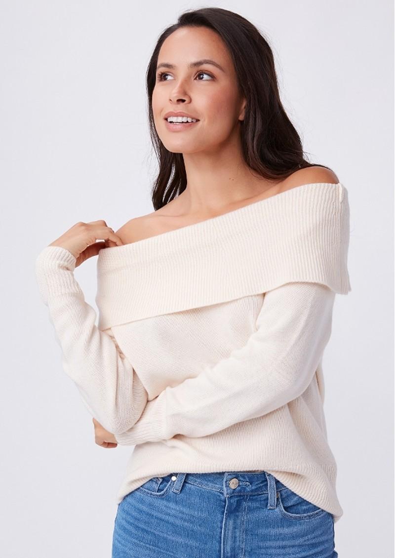 Paige Denim Izabella Wool Mix Jumper - Ivory main image