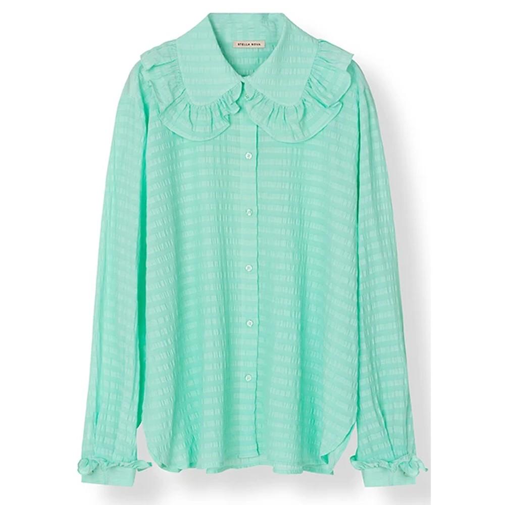 Cassie Silk Blend Shirt - Bright Mint