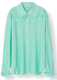 STELLA NOVA Cassie Silk Blend Shirt - Bright Mint