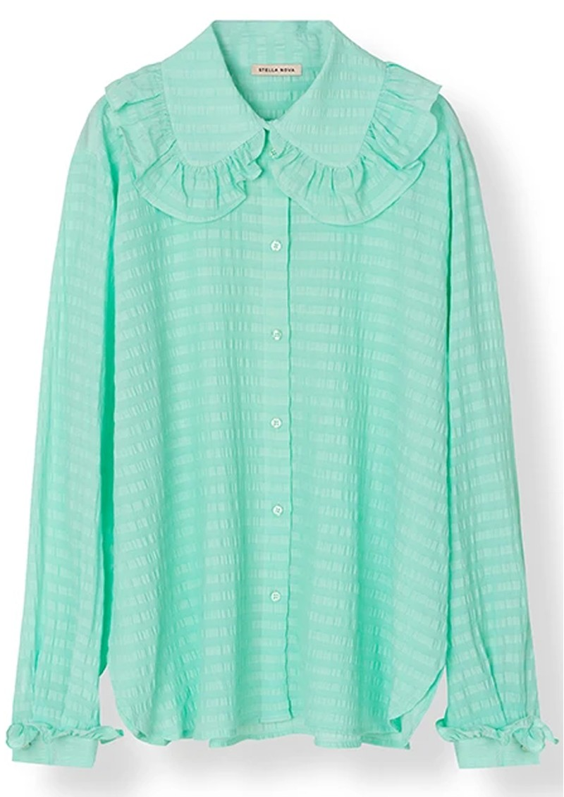 STELLA NOVA Cassie Silk Blend Shirt - Bright Mint main image