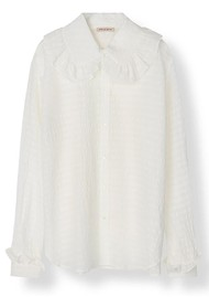 STELLA NOVA Cassie Silk Blend Shirt - White