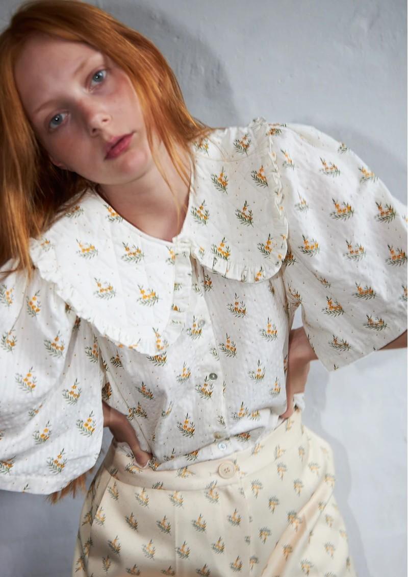 STELLA NOVA Sassi Cotton Shirt - Simple Flowers main image