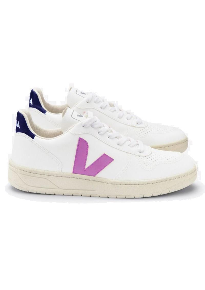 VEJA V-10 CWL Trainers - White, Violet & Purple main image